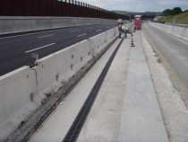Extension of Highway A 14 in Italy for a third lane with HAURATON Channels